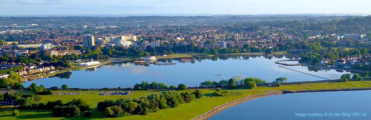 Aerial view, Poole Park